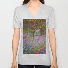 "Claude Monet ""The Artist's Garden at Giverny"" Unisex V-Neck"
