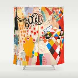 Wallpaper and Diamonds Part II Shower Curtain
