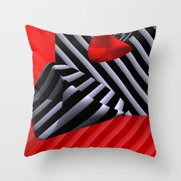 red white black -14- Throw Pillow