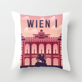Vienna city with opera Throw Pillow