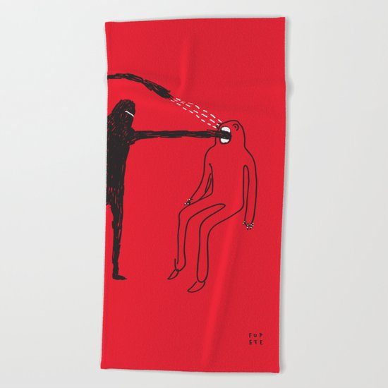 Mouth Beach Towel