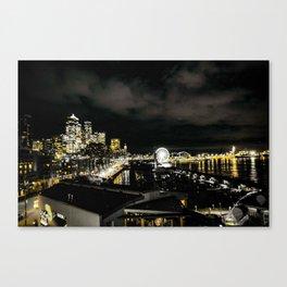 Golden Seattle Canvas Print