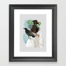 Girl&bird Framed Art Print