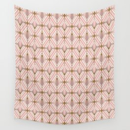 Jaime's Blush and Gold Diamonds Wall Tapestry