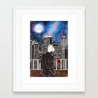cityscape Framed Art Prints featuring Cityscape by Toa's Wildscape