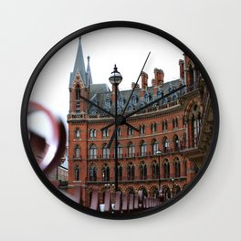 St Pancras Station Streetview in London  Wall Clock