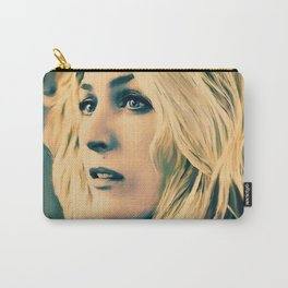 Gillian Anderson in oil olors Carry-All Pouch