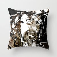 gandalf Throw Pillows featuring Gandalf by Patrick Scullin