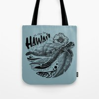 hawaii Tote Bags featuring Hawaii by Krikoui