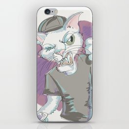 Frustrated cat. iPhone Skin