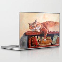 Red cat on a bookshelf Laptop & iPad Skin