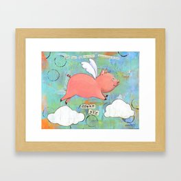Alice the Dream Pig Framed Art Print