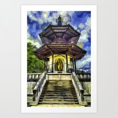 The Pagoda Vincent Van Gogh Art Print