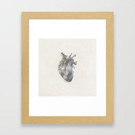 golden polygon heart Framed Art Print