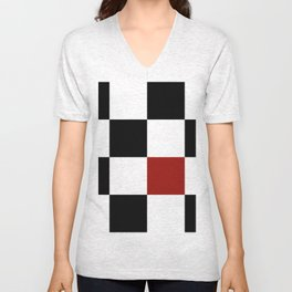 Checkerboard Unisex V-Neck