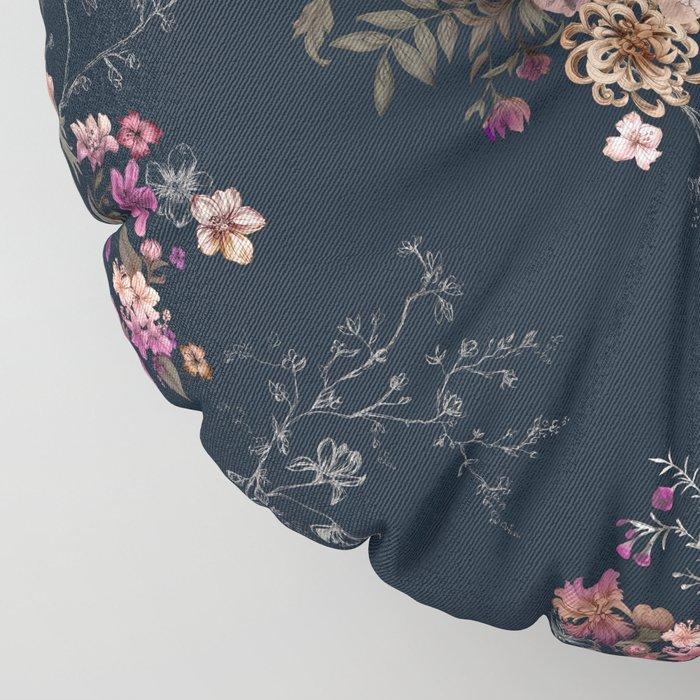 Japanese Boho Floral Floor Pillow