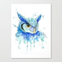 hedwig Canvas Prints featuring Color Hedwig  by Simona Borstnar