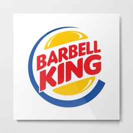 Barbell King Metal Print
