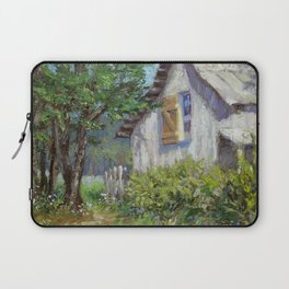 Whitewashed – Palette Knife Barn Painting Laptop Sleeve