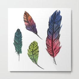 Four Feathers Metal Print