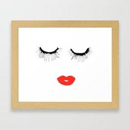 Lashes & Lips Framed Art Print
