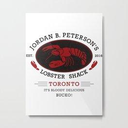 Jordan Peterson Lobster Shack Metal Print