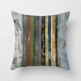 Lines Of Distinction Abstract Throw Pillow