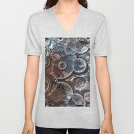 Abstract Coins Unisex V-Neck