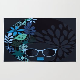 Afro Diva : Sophisticated Lady Teal Rug