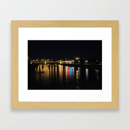Bow River at Night Framed Art Print