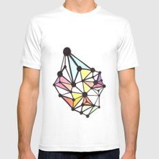 Network Color 1 MEDIUM Mens Fitted Tee White