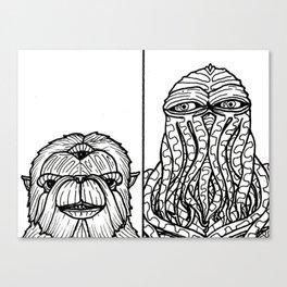 B&W Weirdos 27 Canvas Print