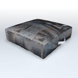 Old Rusty Machinery Outdoor Floor Cushion