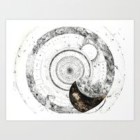 astrology Art Prints featuring astrology lapse by Carolina Arévalo
