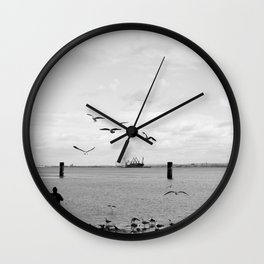 Tejo and the birds Wall Clock