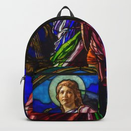 "John La Farge ""The Angel Holding a Lyre (or The Harpist)"" window Backpack"