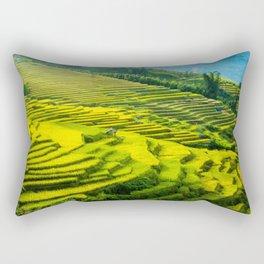 Viet Nam  Art Print, Sapa Rice Terrace, Paddy field, Wall Art Decor, Travel Poster, Fine Art Print Shop Rectangular Pillow