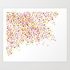 Watercolor Confetti! Art Print