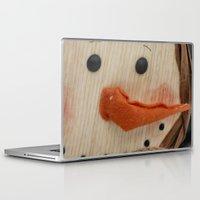 snowman Laptop & iPad Skins featuring Snowman  by IowaShots