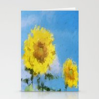 sunflowers Stationery Cards featuring Sunflowers by Paul Kimble