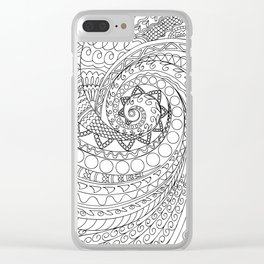 abstract zen tangled pattern swirl -2 Clear iPhone Case