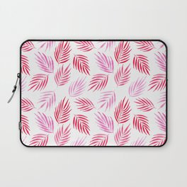 Tropical areca palms pattern in red Laptop Sleeve