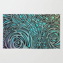 How the river flows - Zentangle Art Rug