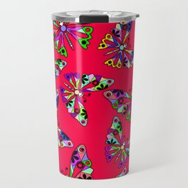 Butterflies, scarlet Travel Mug