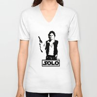 han solo V-neck T-shirts featuring Han Solo by Mister Munny