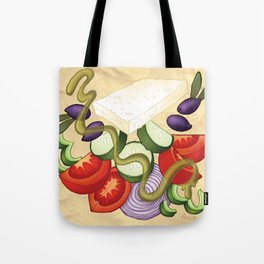 Greek Salad Tote Bag