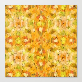 Orange vegetables abstract art Canvas Print