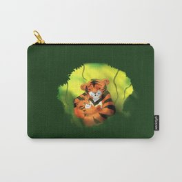 Tiger Cuddles - by Squibble Design Carry-All Pouch