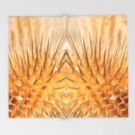 Dried plant Thorns and Prickles Throw Blanket