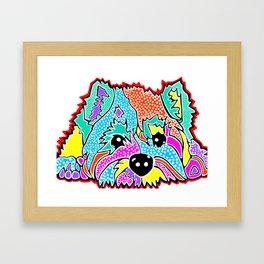 Cotton Candy Dots Westie West Highland Dog Pet Terrier Scottish Scotland Cairn Border Glen Fox Kerry Framed Art Print